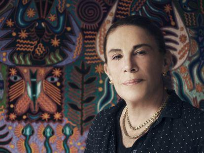 Sabina Berman durante una sesión de fotografía.