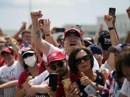 Seguidores de Donald Trump, en Wilmington, Carolina del Norte.