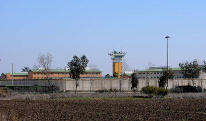 Exterior de la cárcel de Huelva, uno de los 'laboratorios' del experimento.