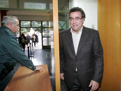Enrique Ortiz, en los juzgados de Alicante, en una de sus declaraciones ante la justicia.