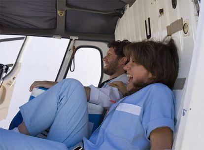 Dos de los protagonistas de la serie <i>Hospital Central</i>.