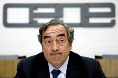 El presidente de la CEOE, Juan Rosell. EFE/Archivo