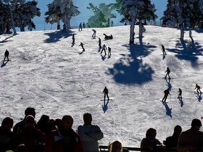 Pista El Escaparate en la estación de esquí del Puerto de Navacerrada.