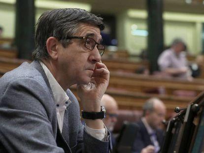 Patxi López, en el Congreso de los Diputados.