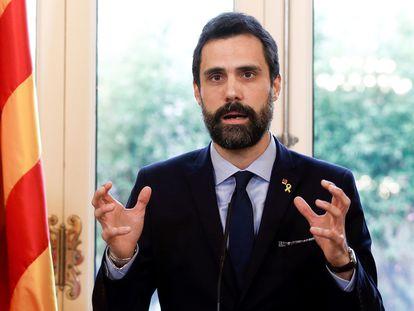 El expresidente del Parlamento de Cataluña Roger Torrent.