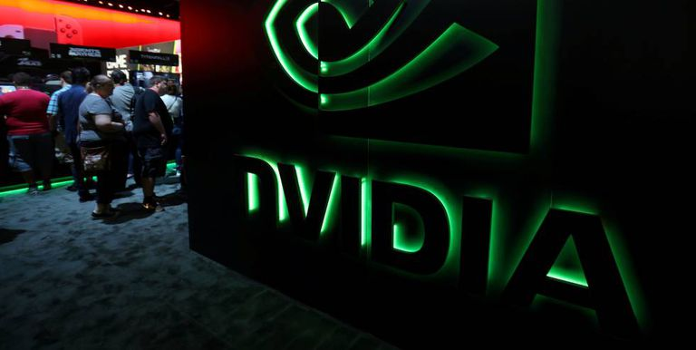 Stand de Nvidia en una feria tecnológica celebrada en Los Angeles.