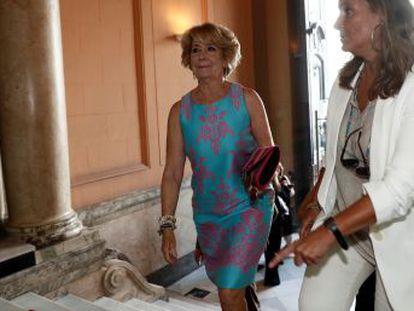 La expresidenta reaparece tras pedir Anticorrupción que se la investigue en el  caso Púnica
