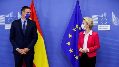 Pedro Sánchez y Ursula von der Leyen, a finales de septiembre en Bruselas.
