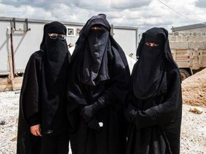 Otra de las mujeres, calificada como  líder  de las esposas de una célula yihadista desmantelada