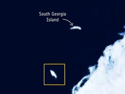 En vídeo: El iceberg más grande del mundo se hace pedazos.