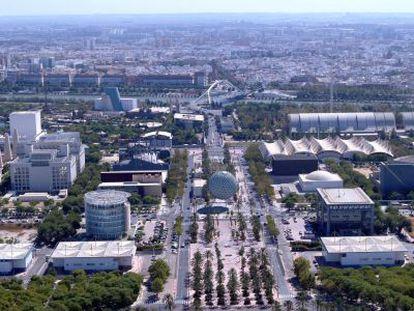 Vista del Parque Científico y Tecnológico Cartuja, en Sevilla.