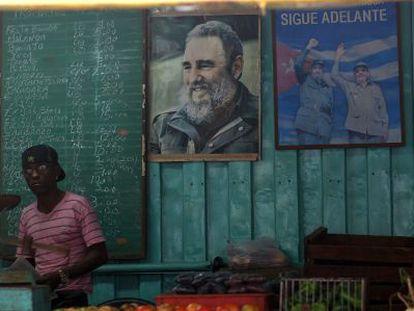 Un puesto de verduras en La Habana el 5 de enero de 2014.