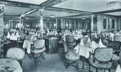 Uno de los salones del Olympic, similar al del Titanic.