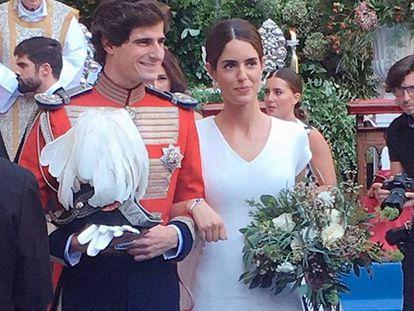 Primeras imágenes de la boda de Sofía Palazuelo y Fernando Fitz-James Stuart.