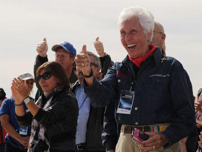 La futura astronauta Wally Funk, en una imagen de 2012.