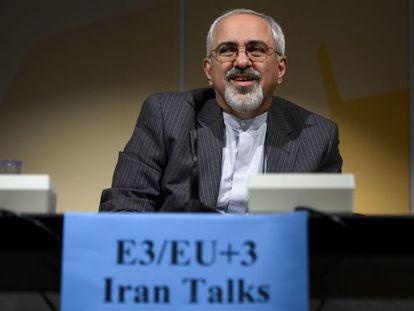 El ministro de Exteriores iraní, Mohamad Zarif, el miércoles en Ginebra.