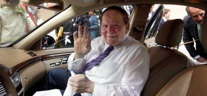 Sheldon Adelson, durante una visita a Madrid en 2012