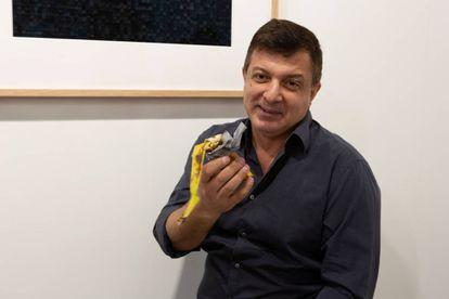 David Datuna, tras comerse el plátano.