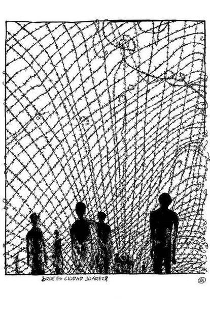 El historietista Edmond Baudoin describe en ¡Viva la vida!, con un blanco y negro elegante, el horror de los asesinatos diarios de Ciudad Juárez. La obra de Baudoin se caracteriza por un trazo intimista y sencillo.