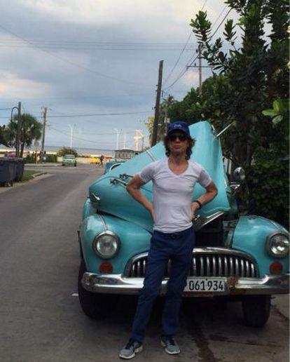 Mick Jagger, durante una visita La Habana el pasado mes de octubre.