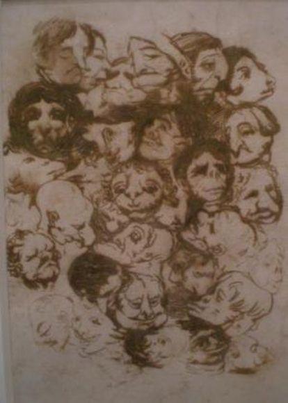 El dibujo 'Caricaturas de cabezas'.