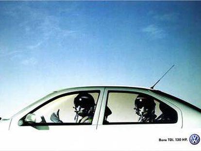"""Volkswagen Bora TDI. """"130 caballos"""". Agencia DDB, Alemania."""