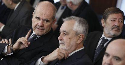 Manuel Chaves y José Antonio Griñán, durante el juicio de los ERE.