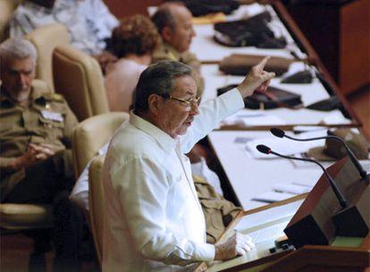 Raúl Castro, durante una intervención en la Asamblea Nacional Cubana, el pasado 11 de julio.