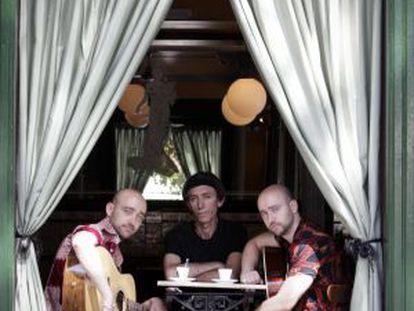 Tres de los integrantes del grupo Ernest.