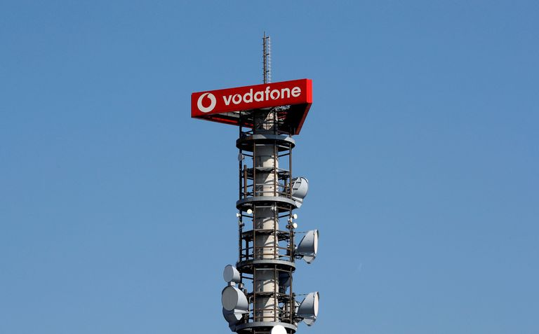 Torre de antenas de telefonía móvil de Vodafone en Berlín.