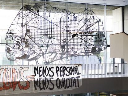 Escultura de Soledad Sevilla, que costó al hospital de Sant Pau 253.391 euros.