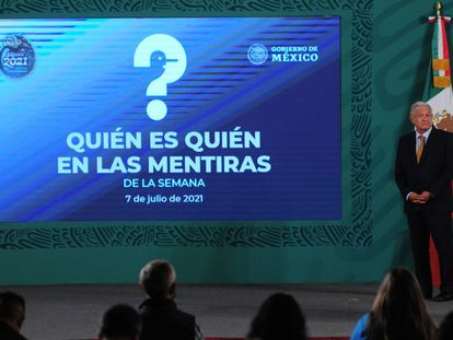 López Obrador encabeza la conferencia matutina este miércoles.
