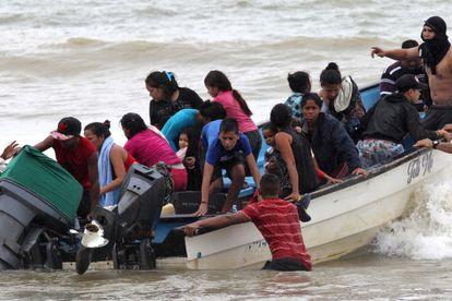 Un bote con migrantes venezolanos, en noviembre pasado.