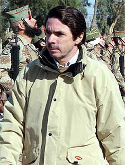 Aznar, durante su visita a Irak.