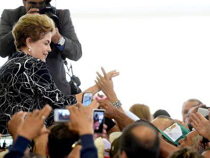 Rousseff, en Brasilia este viernes.