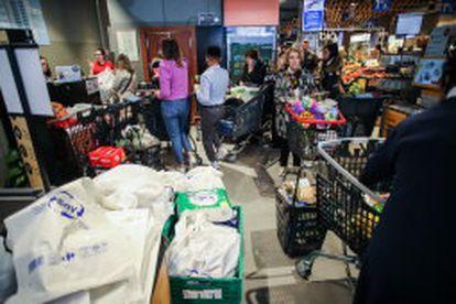 Esta semana se han dado episodios de acopio de víveres en supermercados de Madrid.