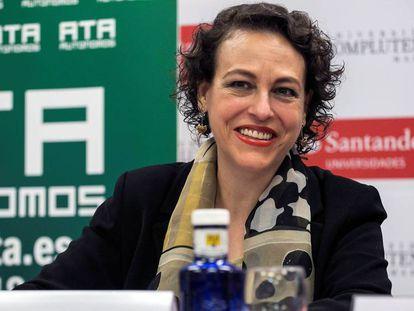 La ministra de Trabajo, Magdalena Valerio, durante el curso