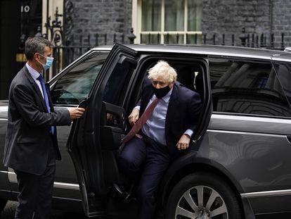 Boris Johnson regresa este martes a Downing Street después de dar su discurso en el congreso del Partido Conservador.