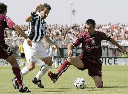 Del Piero, en una acción del Juventus-Arezzo del pasado sábado.
