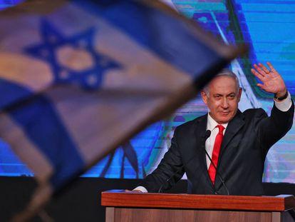 Benjamin Netanyahu celebra los resultados de las elecciones en Israel.