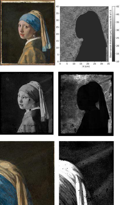 Detalles que se han descubierto gracias al escaneado con macro rayos X fluorescentes.