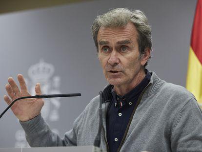 El director del Centro de Coordinación de Alertas y Emergencias Sanitarias, Fernando Simón, en una rueda de prensa el pasado 12 de noviembre.