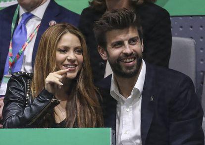 Shakira y Piqué, en el final de la Copa Davis, en noviembre en Madrid.
