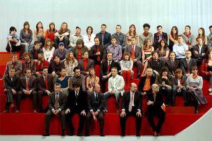 El equipo de profesionales de Cuatro, durante la presentación de la programación de la cadena, que comenzará a emitir el 7 de noviembre.
