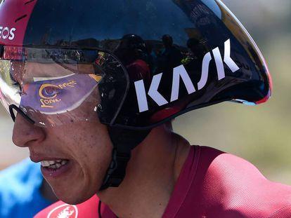 Egan Bernal, en la Vuelta a Colombia.
