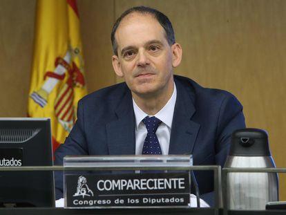 Manuel Morocho, inspector jefe de la Unidad de Delincuencia Económica y Fiscal, comparece en la comisión de investigación relativa a la presunta financiación irregular del Partido Popular en el Congreso de los Diputados, en noviembre de 2017.