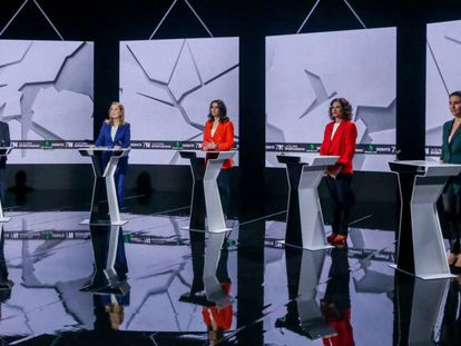 Las cinco participantes en el debate. En vídeo, los mejores momentos.