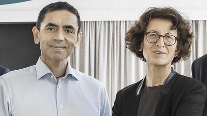 Los cofundadores de BioNTech, Ugur Sahin y Özlem Türeci.