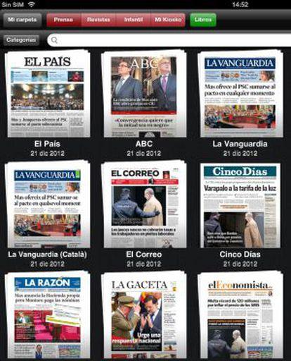 La prensa diaria en Kiosko y Más.