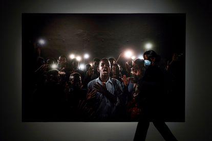 La foto ganadora de la edición de este año de los World Press Photo en la muestra del CCCB de Barcelona.